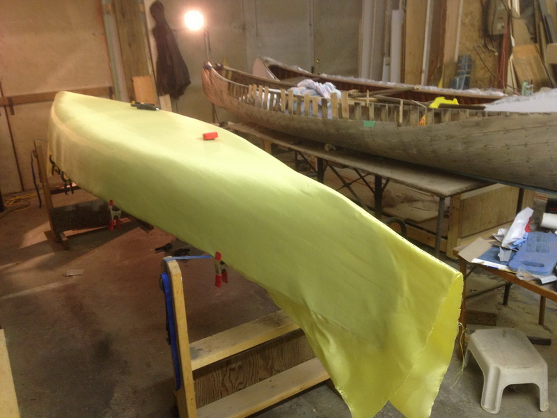 Covering a Canoe with Kevlar