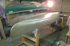 epoxy primer on canoe
