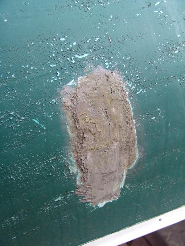 Crude Fiberglass Patch
