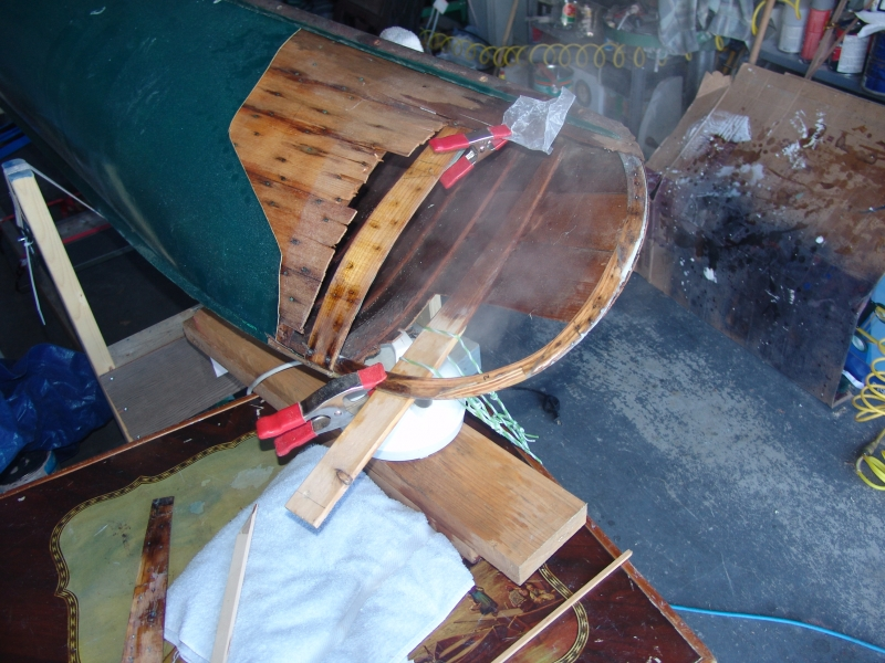 Steaming in Place a New Rib