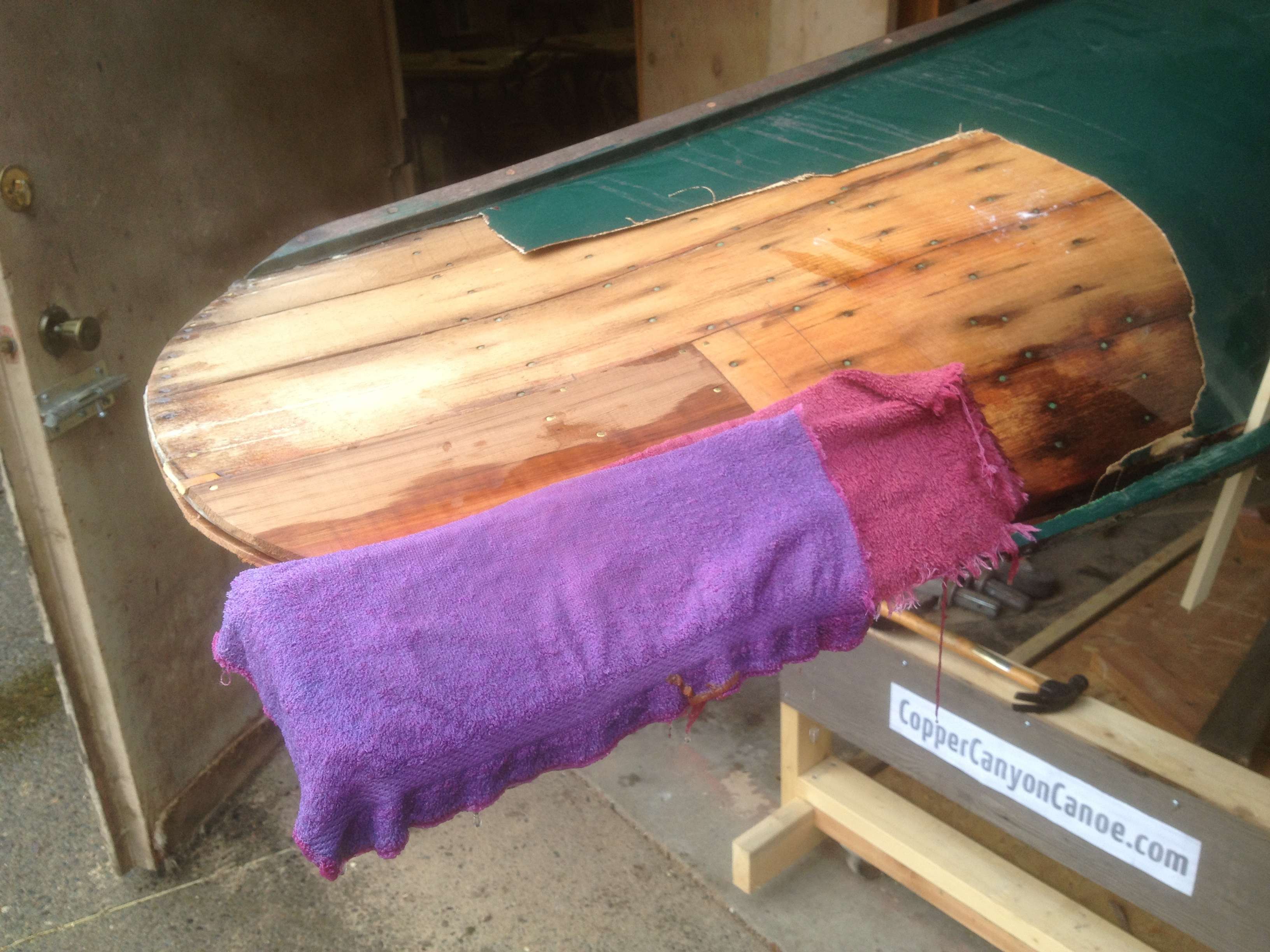 Greenwood Canoe Steam Fitting Plank