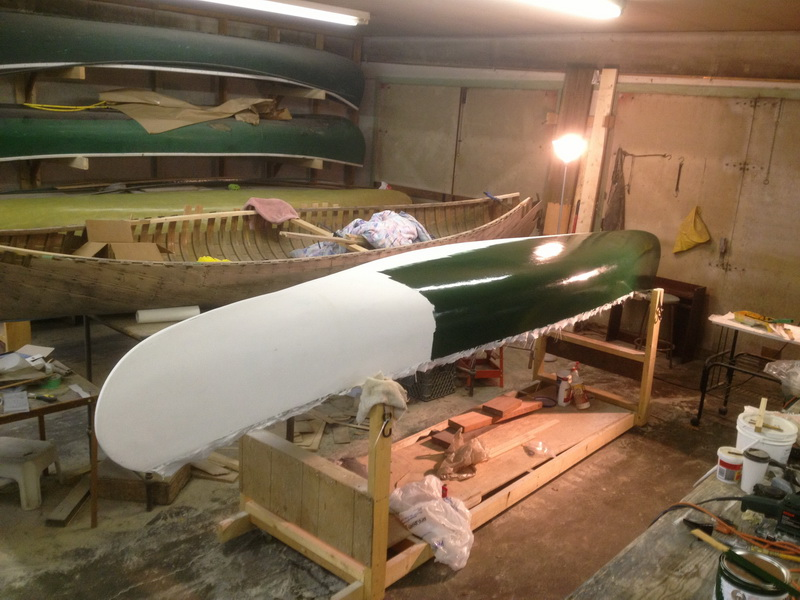 painting a canoe