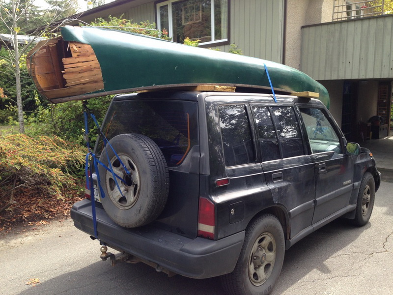 Greenwood Canoe Heading for the Shop