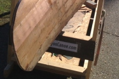 Repaired Greenwood Canoe Planking