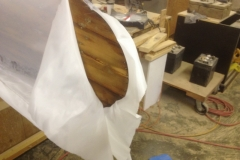Dacron Covering Canoe Bow