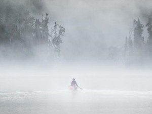 Canoeing in the Mist